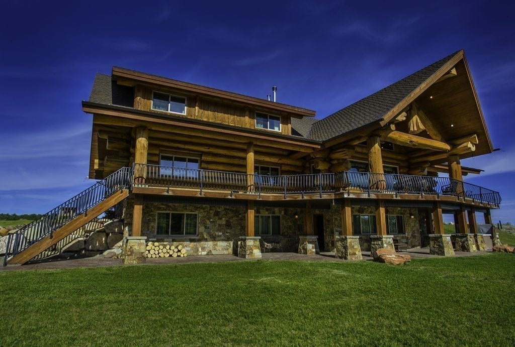 This is a beautiful hunting lodge in Wyoming.