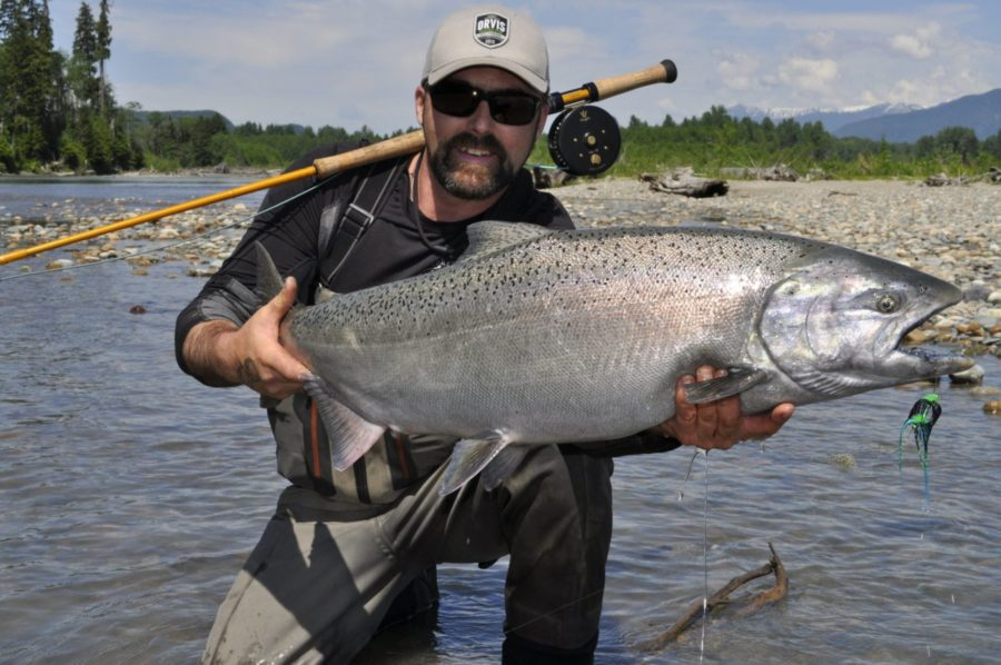 Fishing for Alaskan salmon
