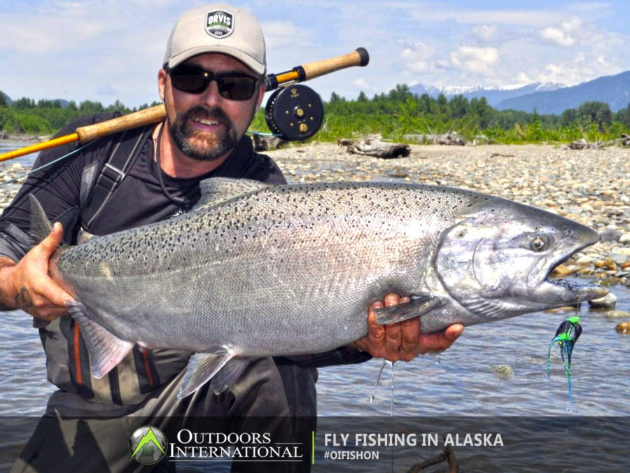 The closer the salmon are to the salt water the better tasting and more aggressive they will be. The strategic location of this lodge allows fishing right out the front door and the quickest access to the best salmon holding water.
