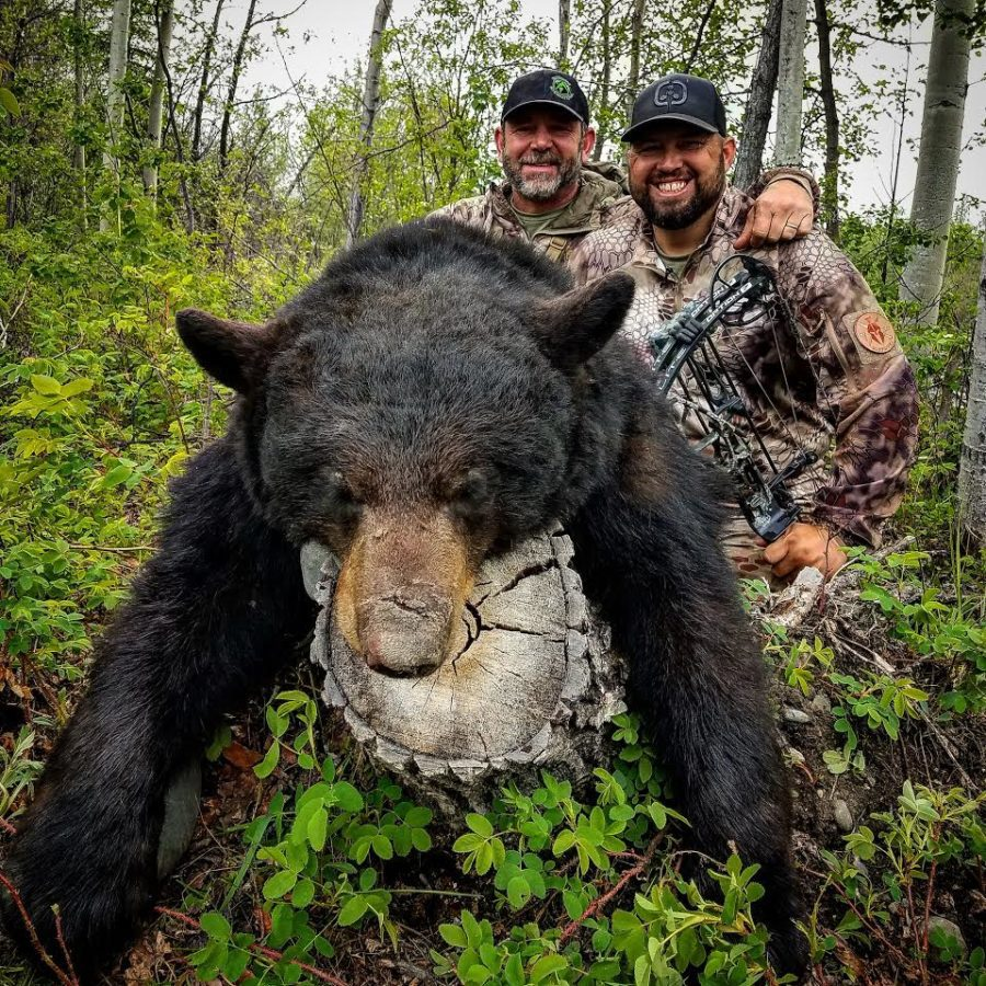 Russ Meyer and Jared Griffith with a big Alaska black bear