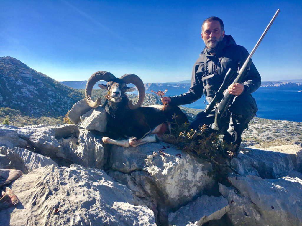 The next day we headed out for Mouflon sheep. The terrain was steep and the rocks were sharp. It was a physical mountain hunt.