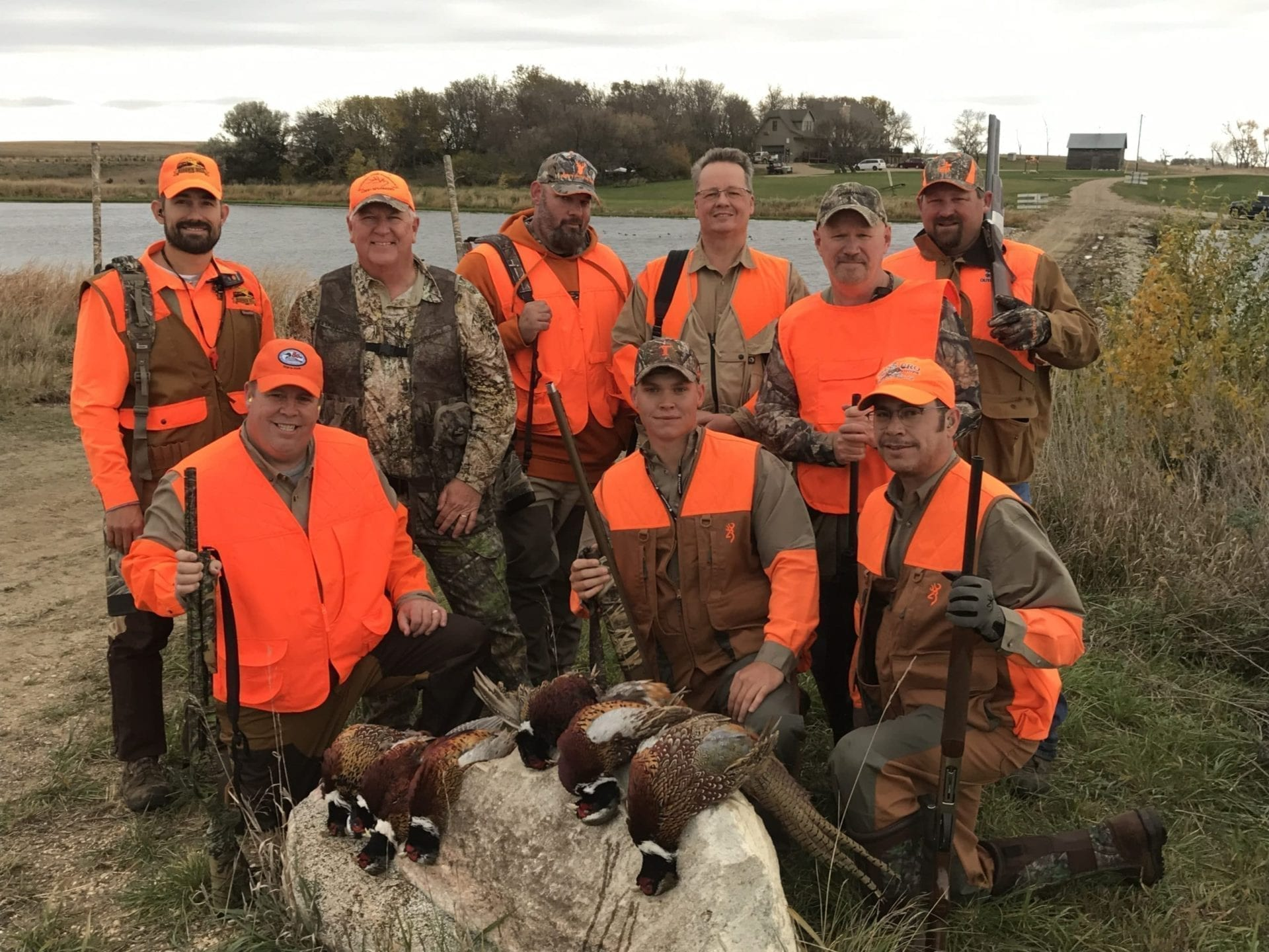 Happy pheasant hunters
