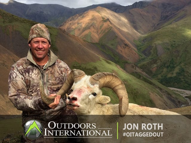 Dall sheep taken by John Roth in Alaska