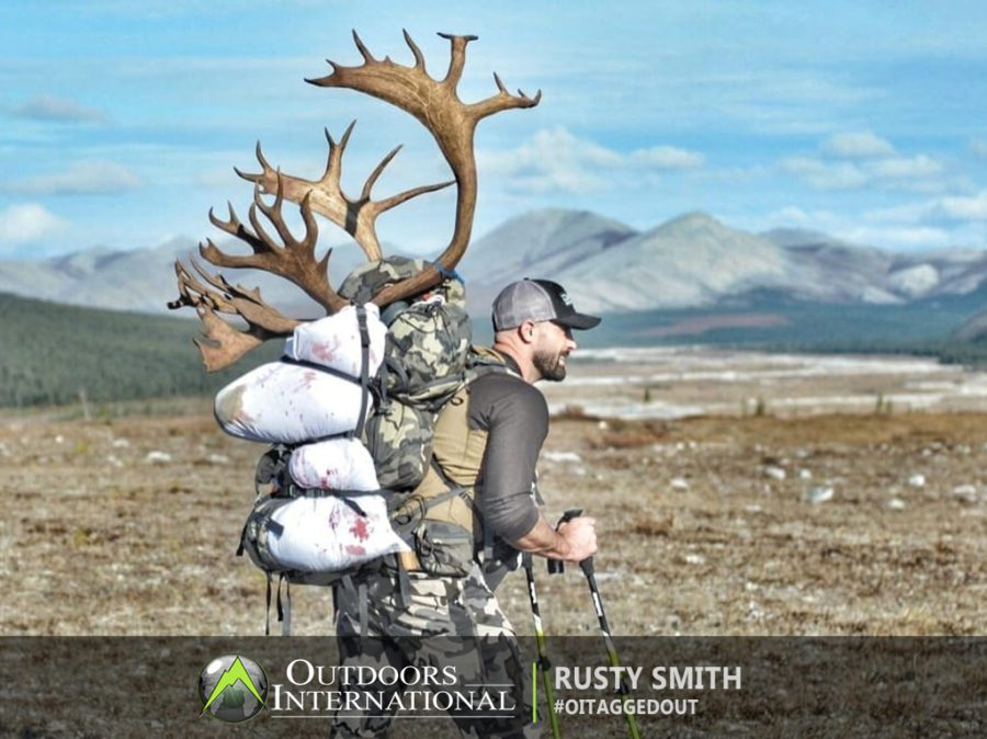 Packing out a big caribou bull