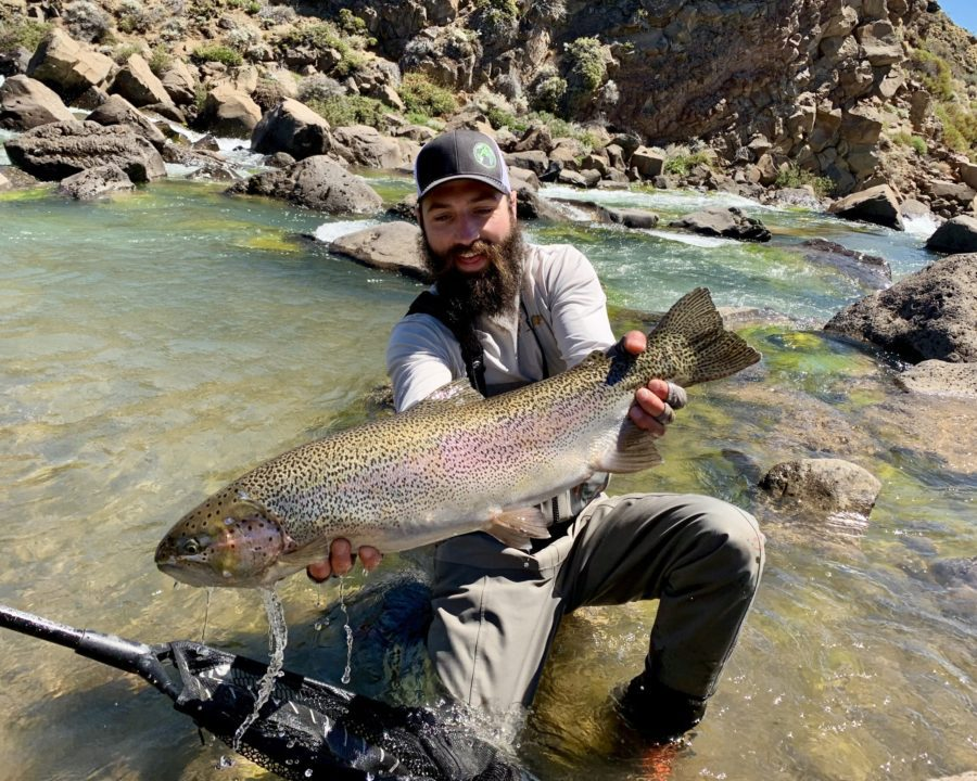 Patrick with a huge trout
