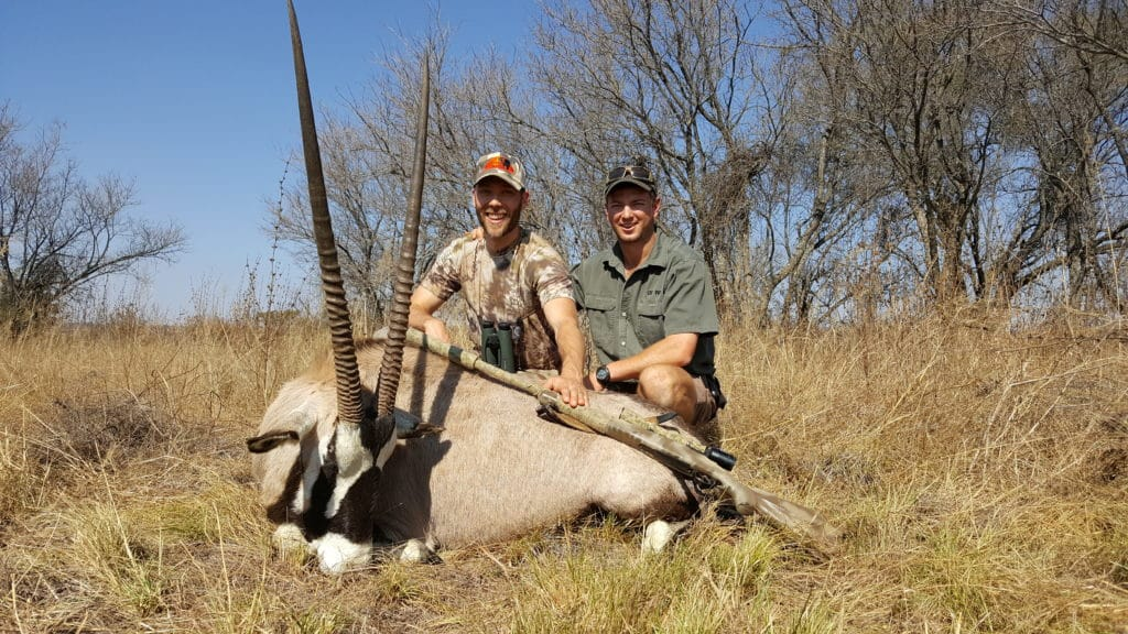 De Wet and Brandon with a gamsbok