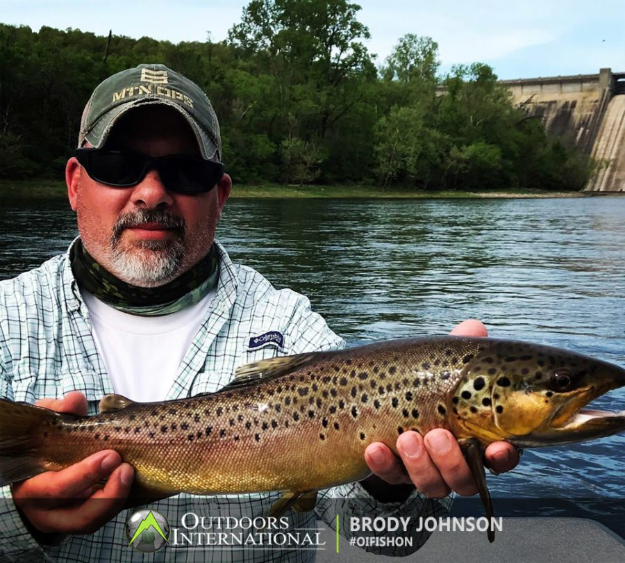Patrick Kissel set it up for a fly fishing trip with Clint Wilkinson. Great trip. Clint works very hard and gets excited about big fish. I had a couple big ones get off ..one on each day. The last day I caught this one the last trip up the river. My Dad caught a real nice Brown Trout as well on the next to last trip..lol. Crazy. Call Clint and ask him about our trip...My Brown Trout jumped out of the water like a Tarpon. lol.