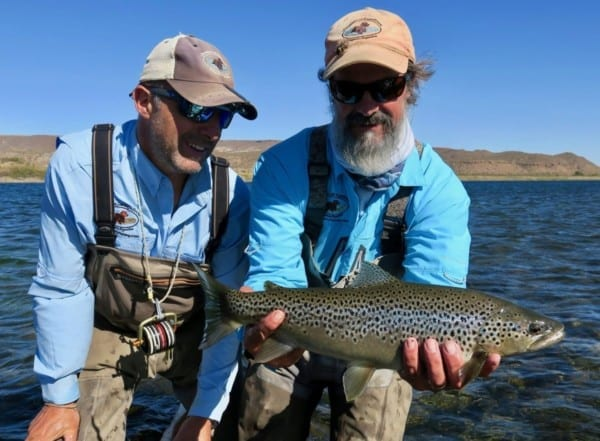 The river has incredible populations of hard fighting rainbows from 17-21″ and good populations of both resident and migratory brown trout that can exceed well over the 30 inch mark.