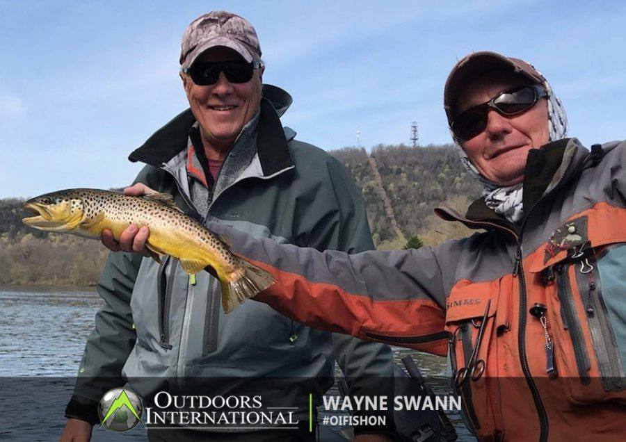 Wayne Swann, Client Arkansas White River Trout Fishing WOA1