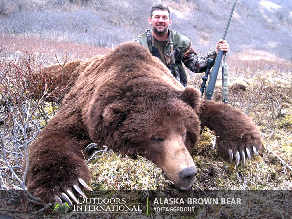 Spring Unimak bear hunts are conducted from camps close to the ocean beach where migrating whales often wash up dead on the beach attracting bears to the carcasses. Twenty hours of daylight in the spring enable hunters to extend their efforts.
