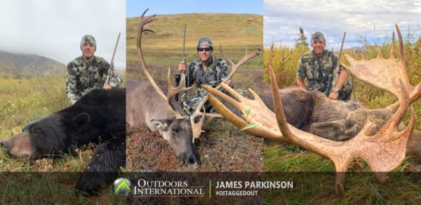 OUTDOORS INTERNATIONAL client, James Parkinson had great success on one of our Alaska combo hunts.