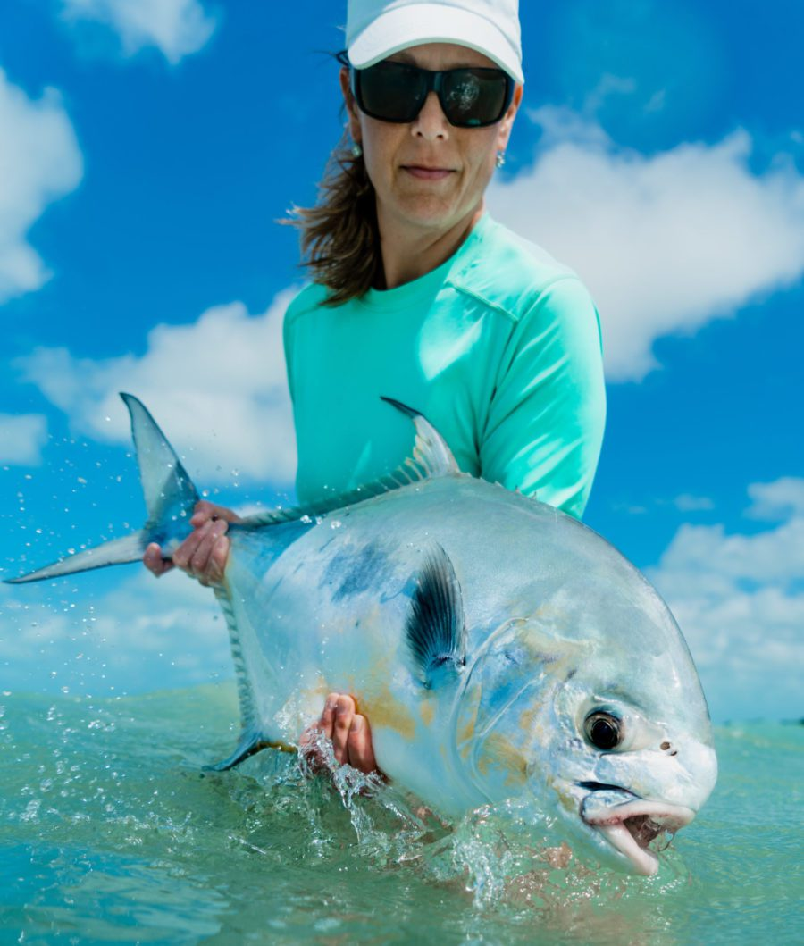 Any serious saltwater angler knows permit are the Holy Grail of the flats. These fish will test your skills, your wit and your will. With great numbers of permit traveling the waters that surround our lodge, you will likely have multiple shots and see multiple schools….in a single day!