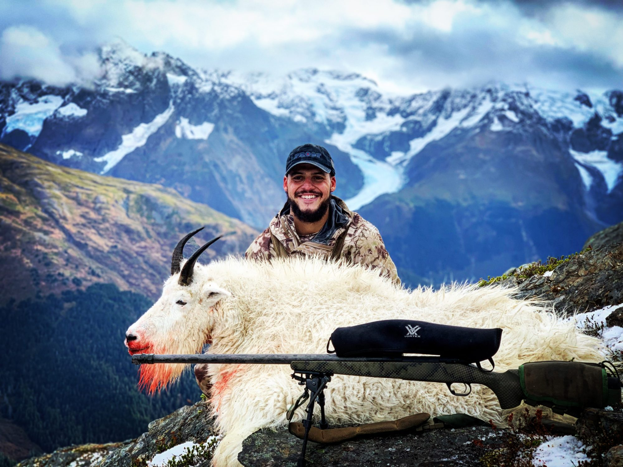 Trophy mountain goat hunts out of Cordova, Alaska.