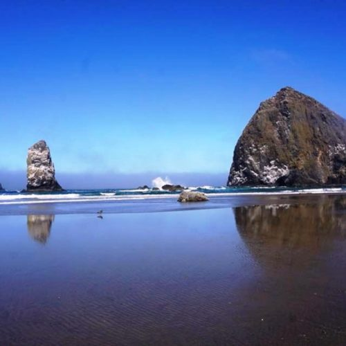 Cannon Beach is beautiful and amazing. It is known for its four-mile-long sandy beach with the iconic Haystack Rock rising 235-feet high out of the water.