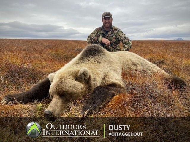 Everyone in the group had opportunity at grizzly bears. I ended up harvesting a very large mature blonde phase trophy Arctic grizzly bear.