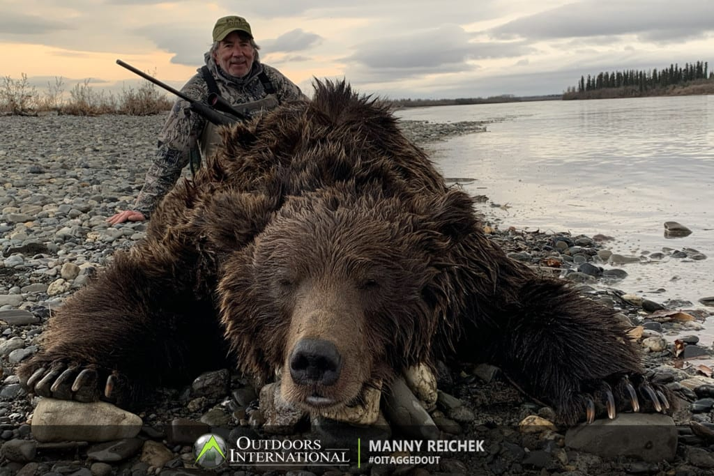 I had a fabulous hunt for my Grizzly Bear. The bear weighed about 800 lbs and he estimated it being close to 8 feet!