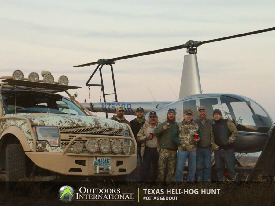 The helicopters are well maintained, and you can rest assured that they'll put you on the hogs every time.